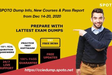 Regular Update-SPOTO Dump Info, New Courses & Pass Report from Dec 14-20, 2020