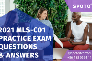 Free Download! 2021 100% Real MLS-C01 Exam Questions Demo