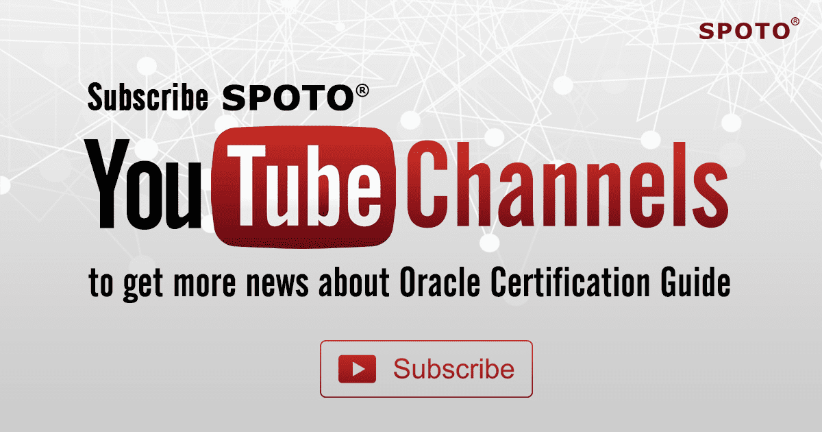 SPOTO YouTube Live-Oracle Certification Guide